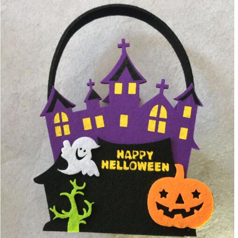 Feutre Grand Trick Or Treat Panier de bonbons Halloween GHOST